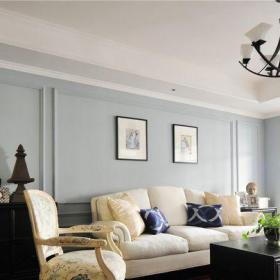 地中海風格四居室客廳背景墻裝修圖片效果圖