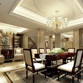 简欧风格五居室餐厅楼梯装修效果图