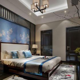 地中海风格别墅卧室床装修效果图欣赏