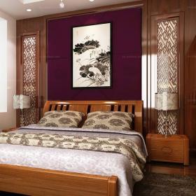 现代中式风格卧室设计装修效果图