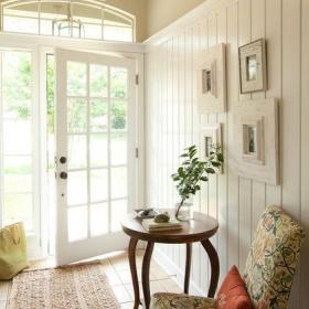 清新110㎡北欧玄关白色进门选购空间简洁舒适设计效果效果图欣赏