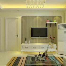 欧式电视背景墙简欧客厅装修效果图