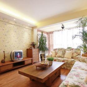 田園風格一居室客廳沙發裝修效果圖
