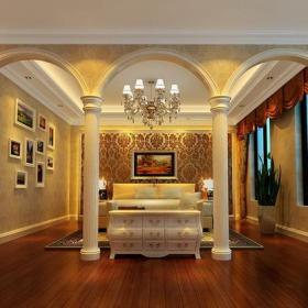 歐式古典客廳效果圖