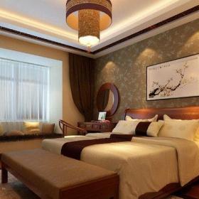 中式風格四居室臥室隔斷裝修效果圖欣賞