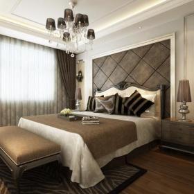 欧式简约温暖的卧室效果图大全
