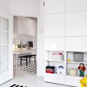 北歐風格公寓黑白經濟型兒童房裝修效果圖