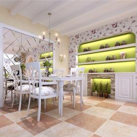 田园风格三居室餐厅储物柜装修效果图大全