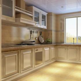 简约欧式风格厨房装修效果图简约欧式风格橱柜图片