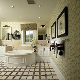 白色201平米以上别墅简欧风格大气卫生间浴缸效果图