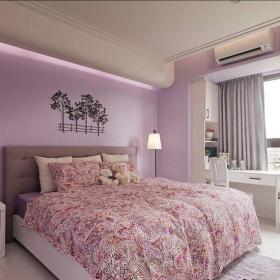 田園風格三居室臥室組合柜裝修效果圖欣賞