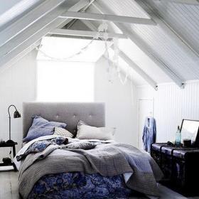 阁楼上用品卧室床北欧散发优雅气质的阁楼空间效果图大全