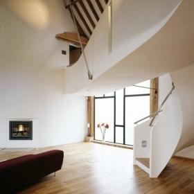 宜家风格loft风格?#35789;?#27004;梯地板图片效果图