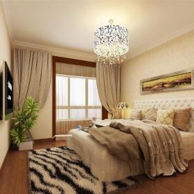 现代简约二居室卧室灯具装修图片效果图