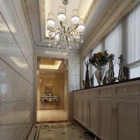欧式古典四居室玄关灯具装修图片效果图大全
