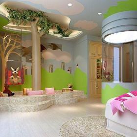 中式風格五居室兒童房壁紙裝修效果圖大全