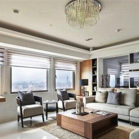 現代簡約三居室客廳飄窗裝修效果圖欣賞