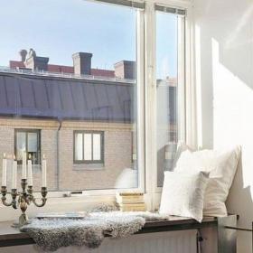 復式樓抱枕浪漫的北歐風格飄窗設計效果圖欣賞