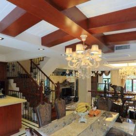 简欧风格三居室餐厅楼梯装修效果图大全