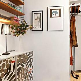 創意家居照片墻家居收納單身公寓宜家一室一廳過道吊頂裝修圖片單身公寓宜家一室一廳進門鞋柜圖片裝修效果圖