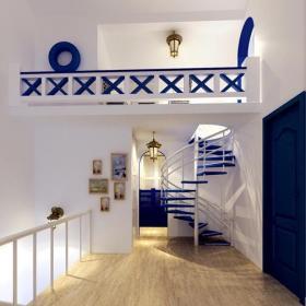 地中海风格室内楼梯效果图片效果图