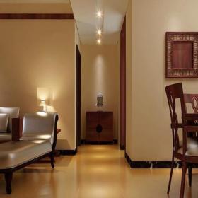 現代簡約三居室客廳走廊裝修圖片效果圖
