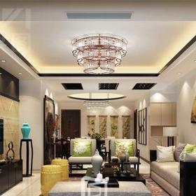 景逸效果圖設計—家裝中式客廳設計