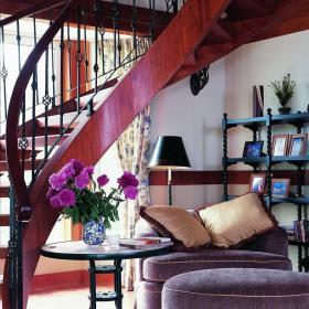 别墅美式乡村田园楼梯装修效果图