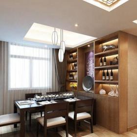 中式风格四居室餐厅楼梯装修效果图大全