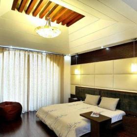 中式古典三居室臥室床頭柜裝修效果圖大全