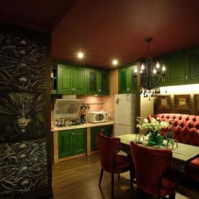 76㎡一居室歐式古典風格開放式廚房裝修圖片歐式古典風格櫥柜圖片效果圖欣賞