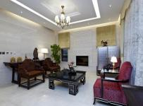客廳吊頂電視背景墻中式起居室裝修圖片效果圖大全