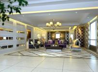 别墅客厅吊顶欧式风格起居室效果图