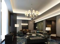 五星大酒店套房起居室裝修效果圖