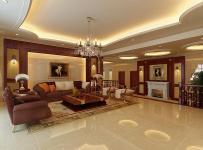 客厅欧式风格别墅起居室吊顶装修效果图,欧式风格沙发图片