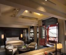 中式四合院酒店起居室设计图装修效果图