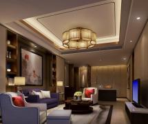 现代酒店空间设计起居室效果图