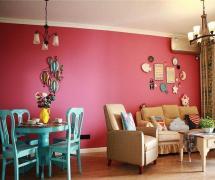 混搭风格三居室客厅吧台装修图片效果图