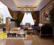 客廳吊頂歐式別墅裝修起居室效果圖