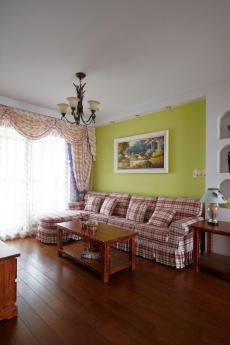 田园风格四居室客厅吧台装修图片效果图