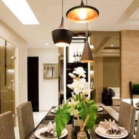 现代简约三居室餐厅吧台装修效果图