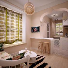 影视墙50㎡照片墙小户型吊顶50m²欧式田园风格客厅吧台修效果图欧式田园风格窗帘图片