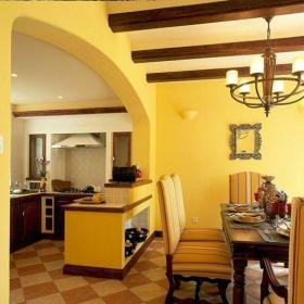 地中海风格三居室餐厅吧台装修效果图欣赏