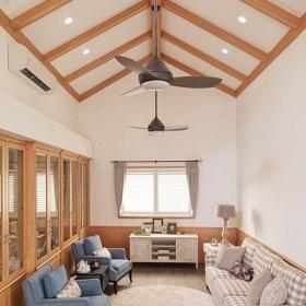 别墅140平米以上20万以上田园风格起居室效果图片