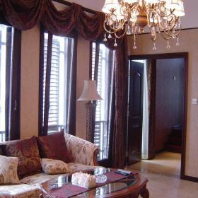 客厅吊顶新中式风格大户型起居室装修图片,新中式沙发图片效果图