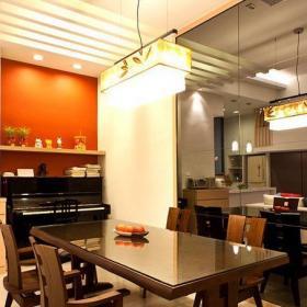 現代簡約三居室餐廳吧臺裝修效果圖