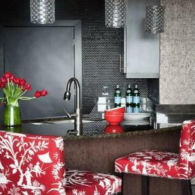 現代一居小資格調的小小吧臺設計效果圖欣賞