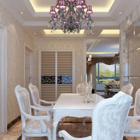 新古典风格三居室餐厅吧台装修效果图欣赏