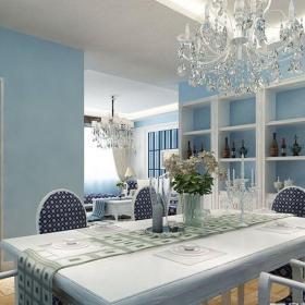 地中海风格三居室餐厅吧台装修效果图