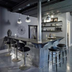现代风格三居装修效果图家庭吧台装修效果图现代风格吧台椅图片